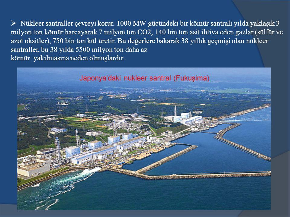 Nükleer santraller çevreyi korur