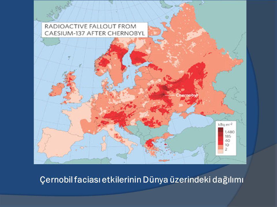 Çernobil faciası etkilerinin Dünya üzerindeki dağılımı