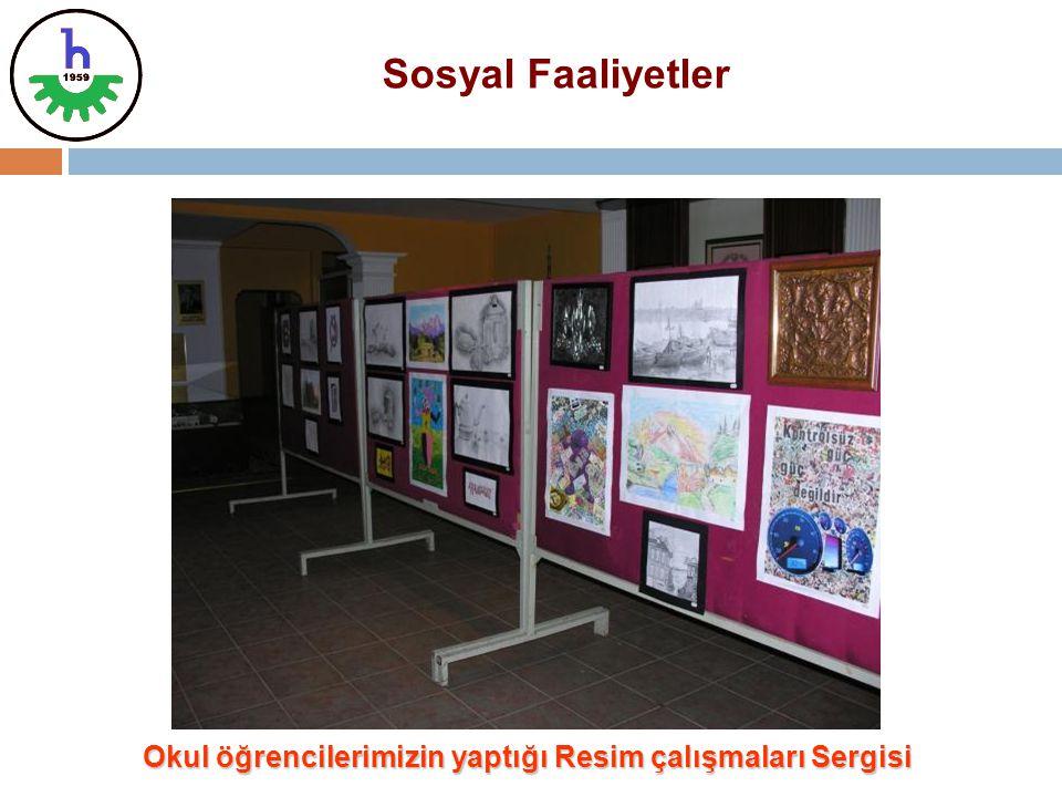 Okul öğrencilerimizin yaptığı Resim çalışmaları Sergisi