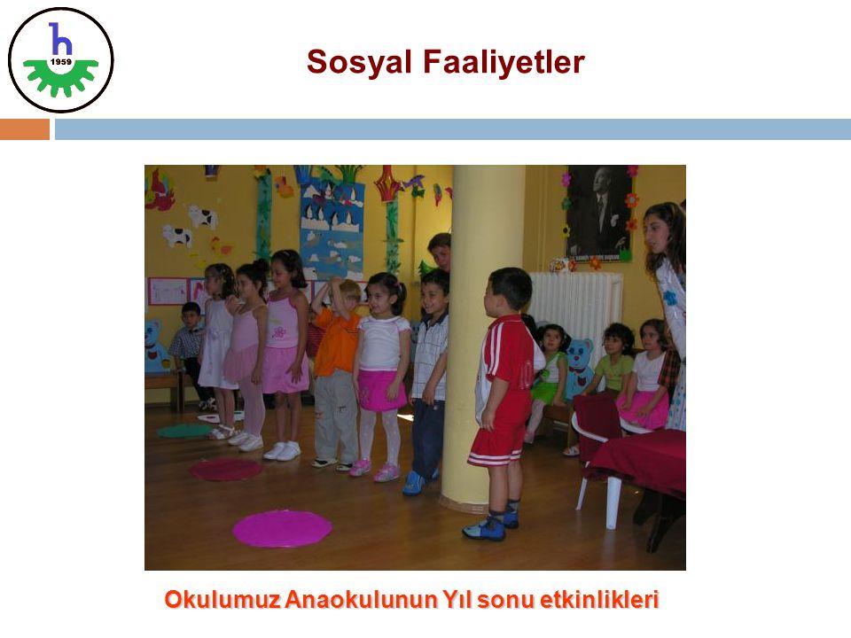 Okulumuz Anaokulunun Yıl sonu etkinlikleri