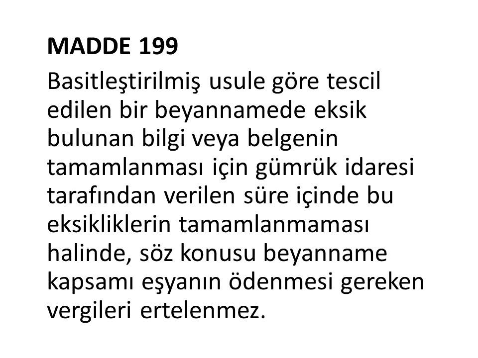 MADDE 199