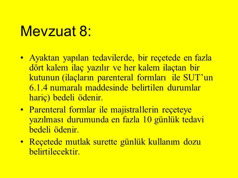 Mevzuat 8: