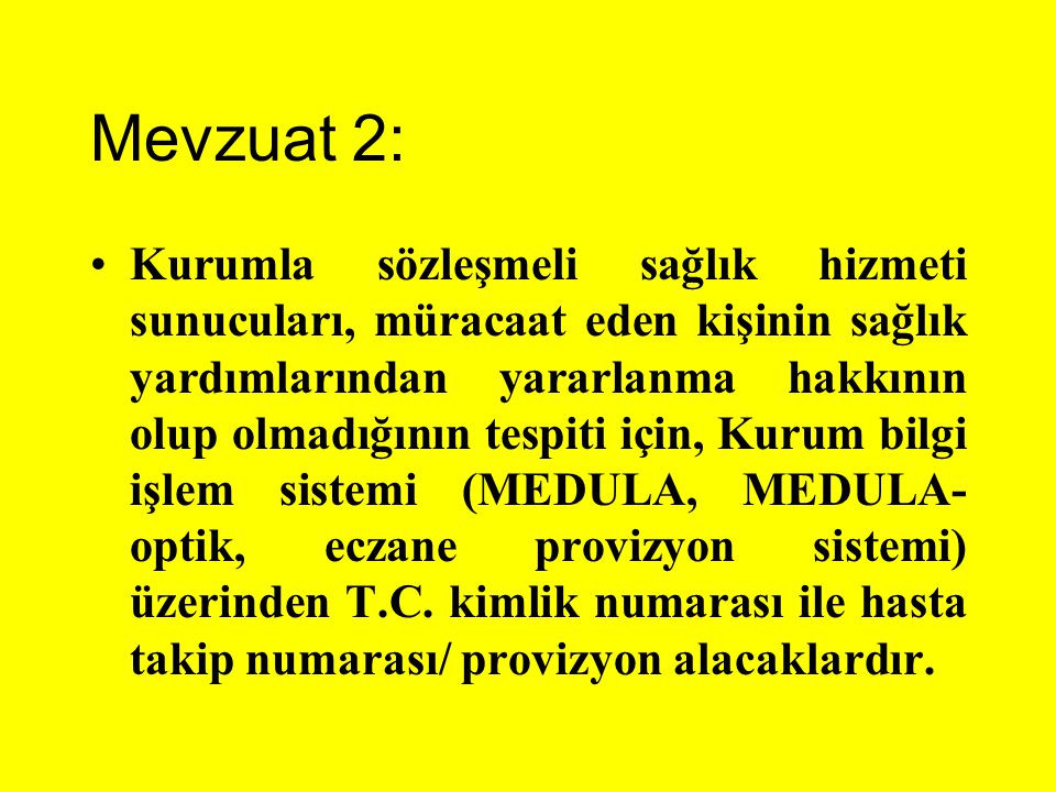 Mevzuat 2: