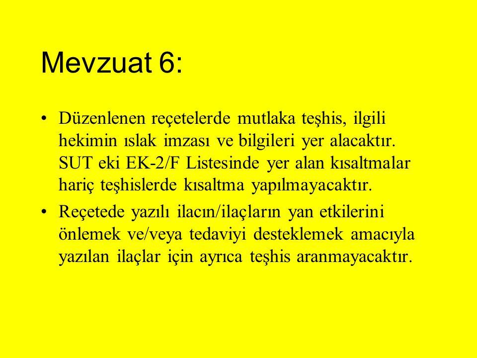 Mevzuat 6: