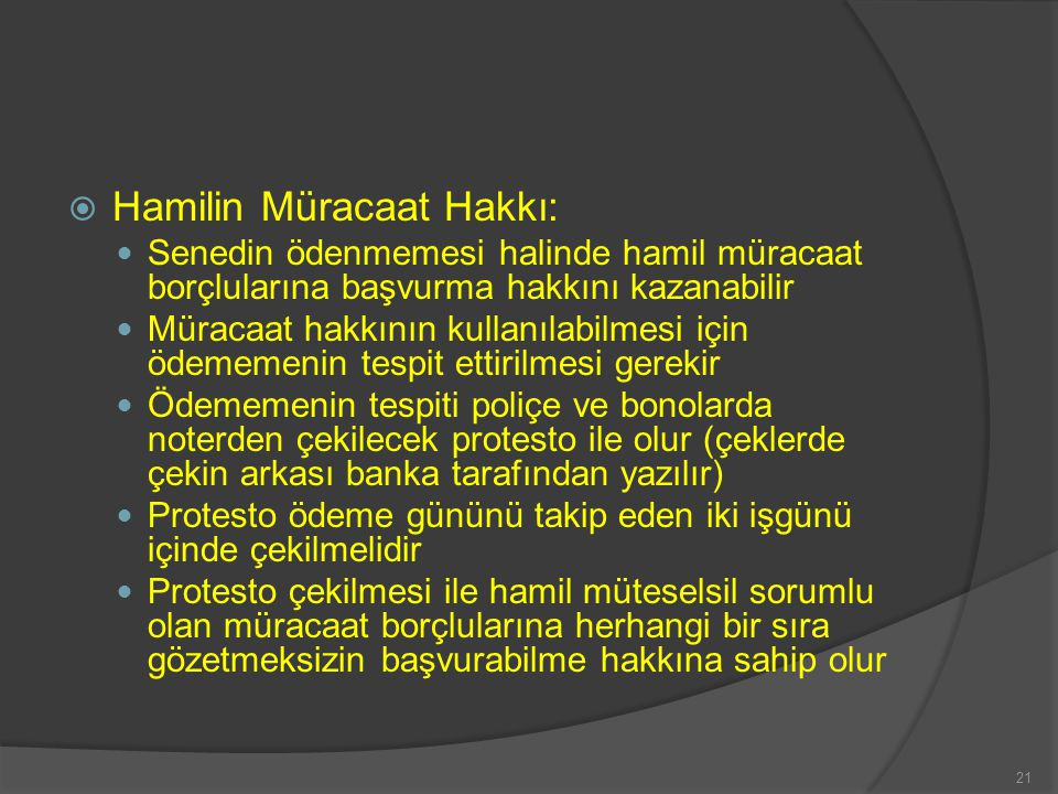 Hamilin Müracaat Hakkı: