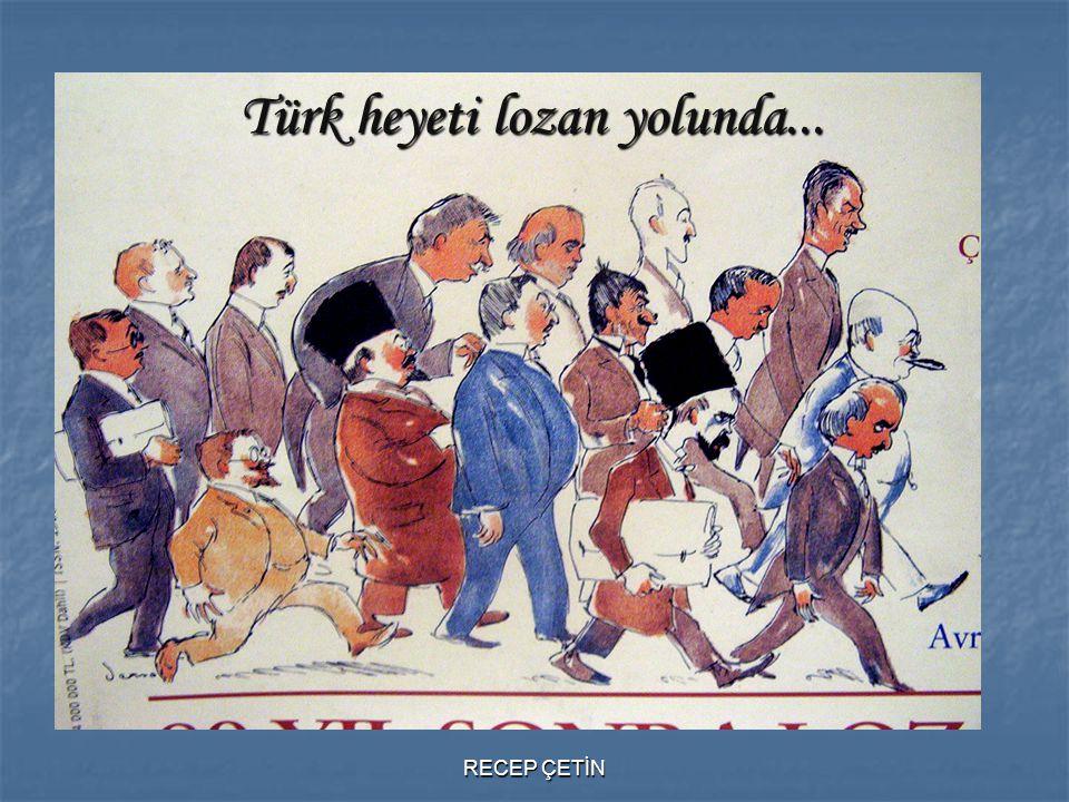Türk heyeti lozan yolunda...