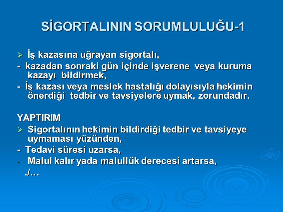 SİGORTALININ SORUMLULUĞU-1