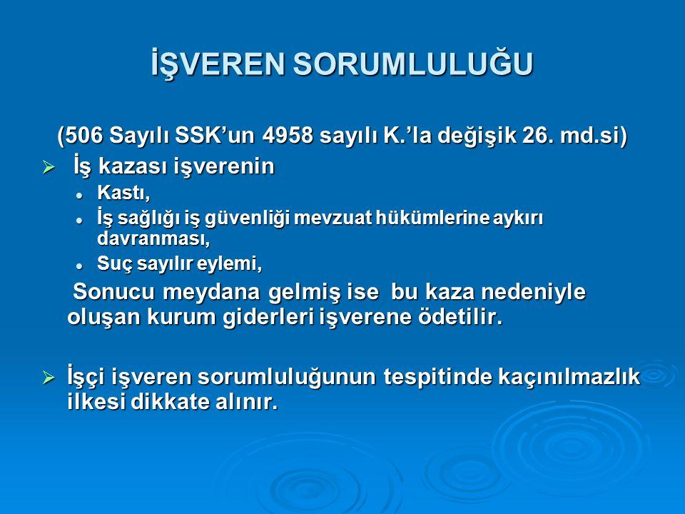 (506 Sayılı SSK'un 4958 sayılı K.'la değişik 26. md.si)