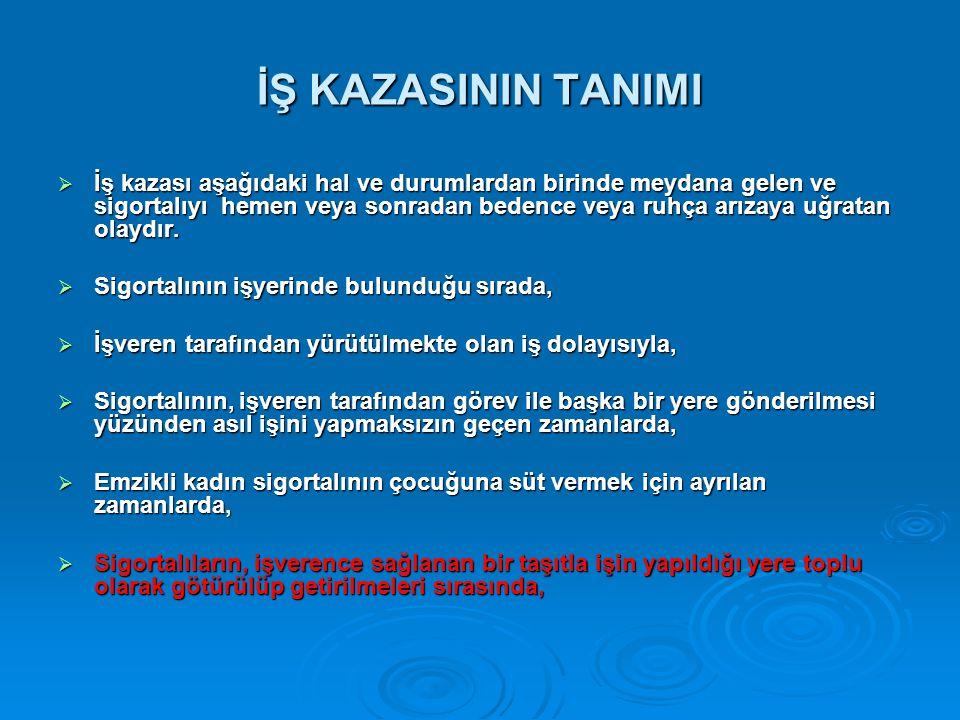İŞ KAZASININ TANIMI