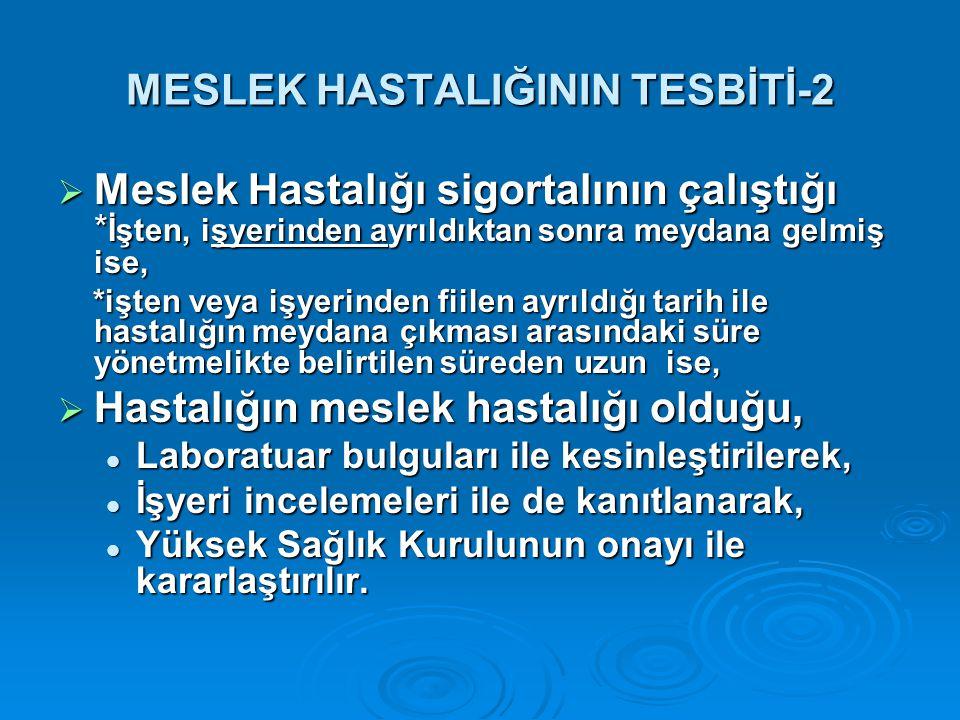 MESLEK HASTALIĞININ TESBİTİ-2