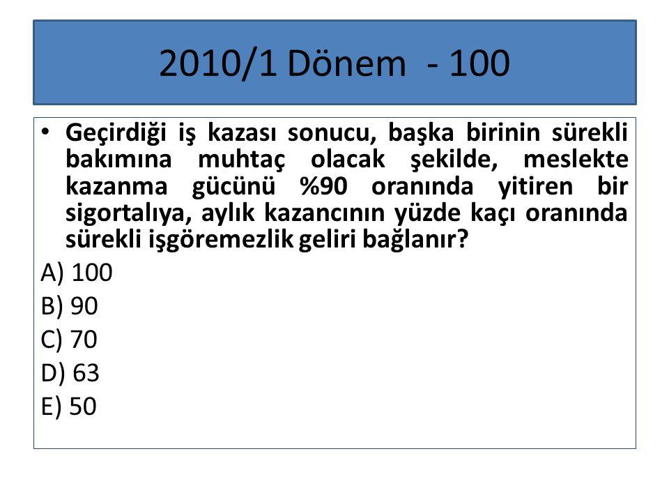 2010/1 Dönem - 100