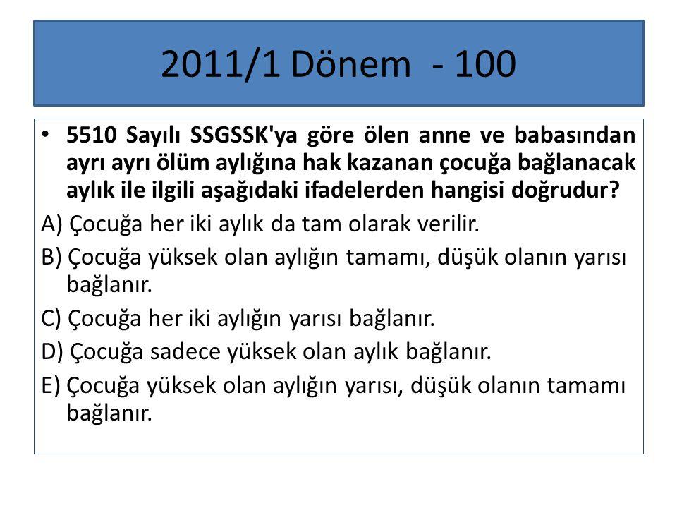 2011/1 Dönem - 100