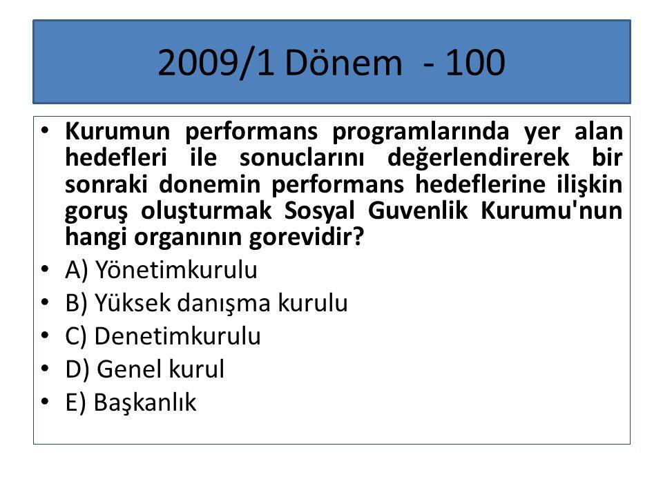 2009/1 Dönem - 100