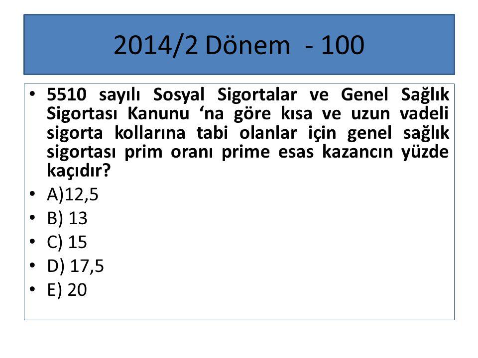 2014/2 Dönem - 100