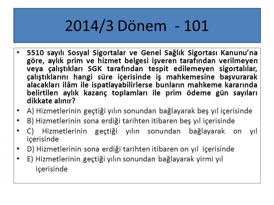 2014/3 Dönem - 101