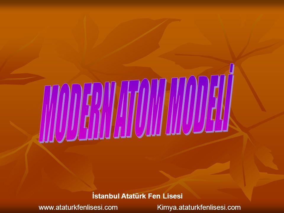 MODERN ATOM MODELİ İstanbul Atatürk Fen Lisesi