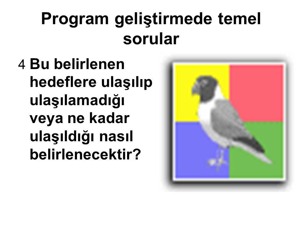 Program geliştirmede temel sorular