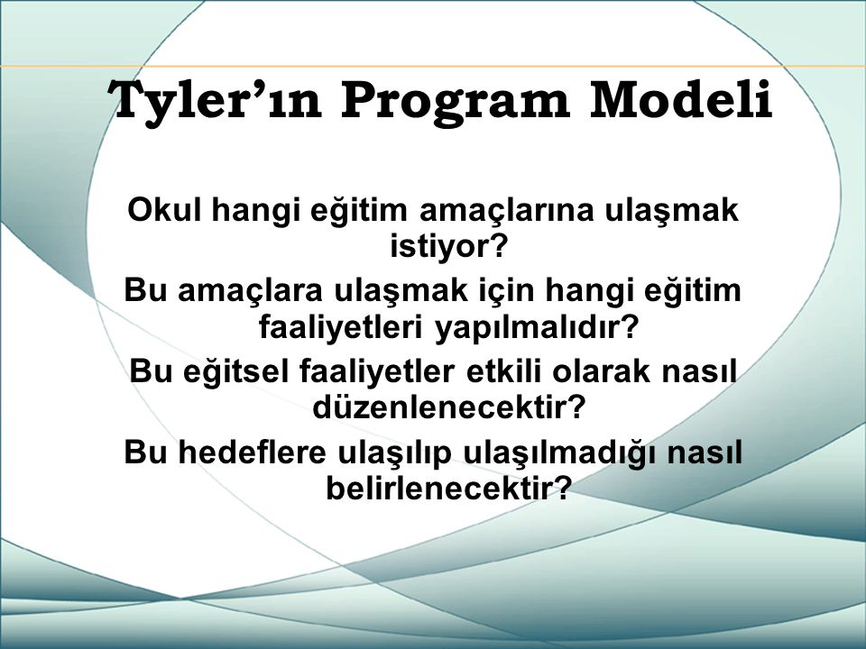 Tyler'ın Program Modeli