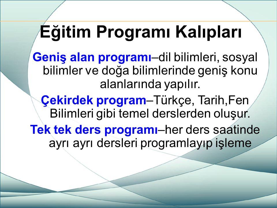 Eğitim Programı Kalıpları