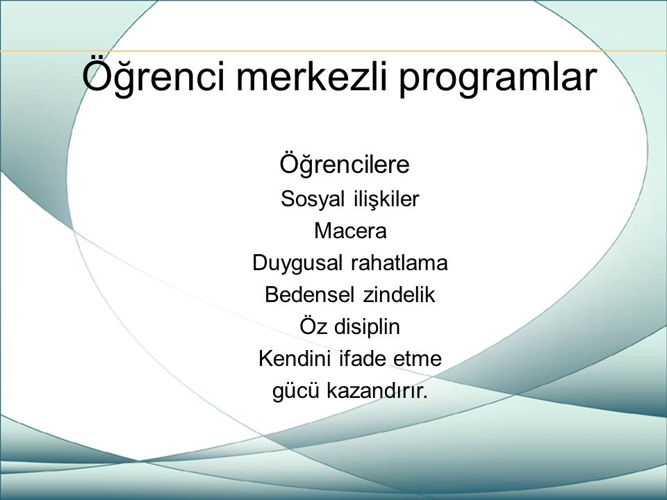 Öğrenci merkezli programlar