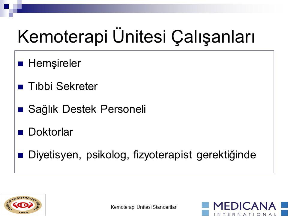 Kemoterapi Ünitesi Çalışanları