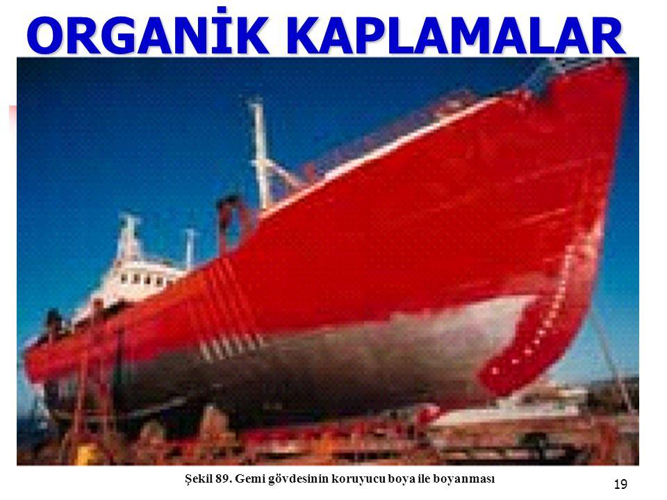 ORGANİK KAPLAMALAR Şekil 89. Gemi gövdesinin koruyucu boya ile boyanması