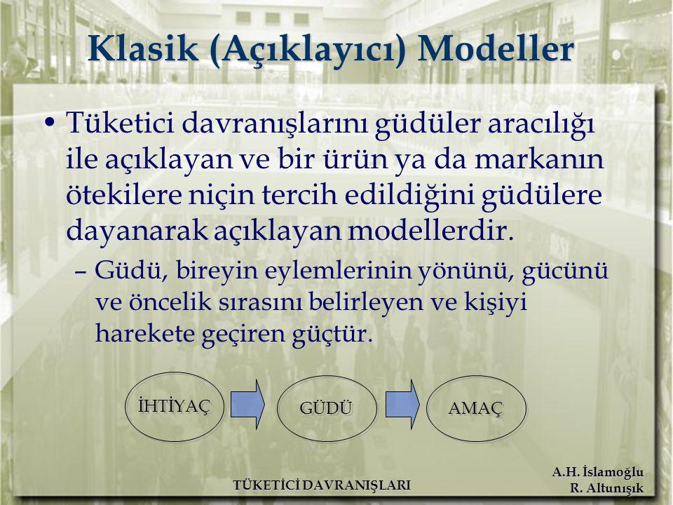 Klasik (Açıklayıcı) Modeller