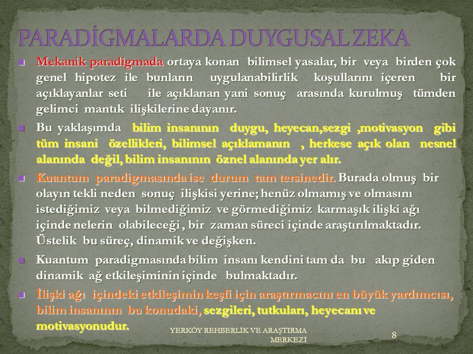 PARADİGMALARDA DUYGUSAL ZEKA