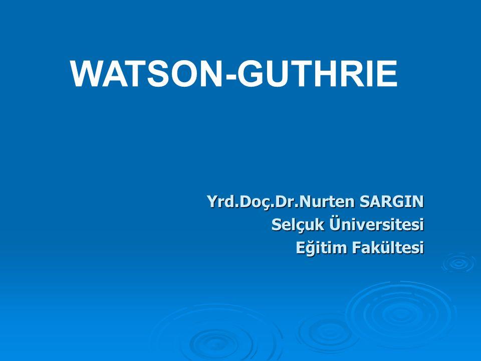 Yrd.Doç.Dr.Nurten SARGIN Selçuk Üniversitesi Eğitim Fakültesi