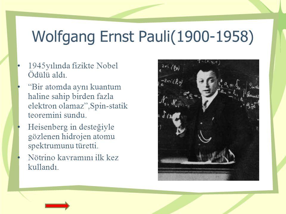 Wolfgang Ernst Pauli(1900-1958)