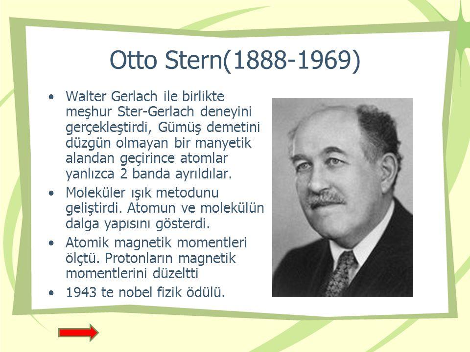 Otto Stern(1888-1969)