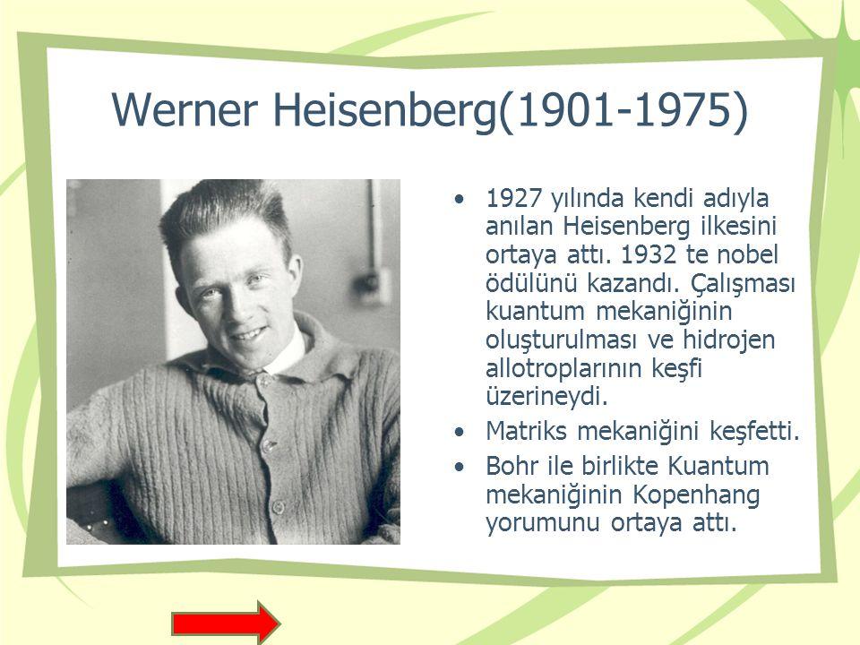Werner Heisenberg(1901-1975)
