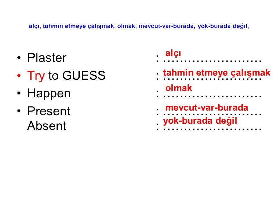 Present : …………………… Absent : ……………………