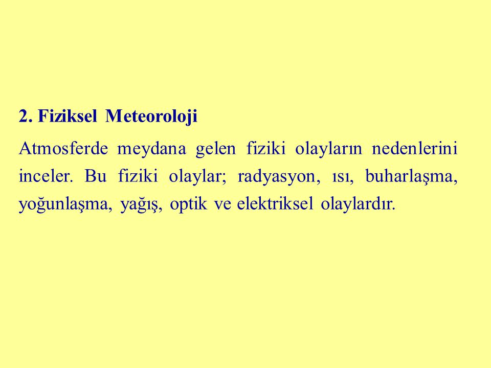 2. Fiziksel Meteoroloji