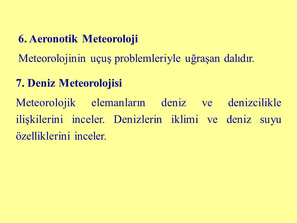 6. Aeronotik Meteoroloji