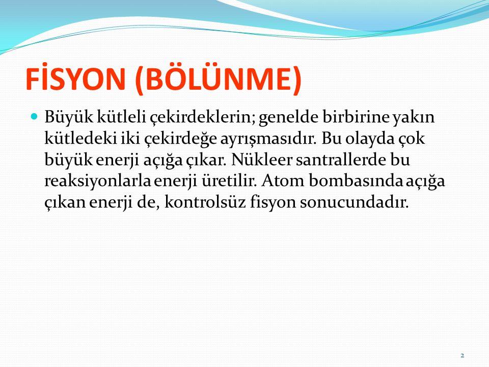 FİSYON (BÖLÜNME)