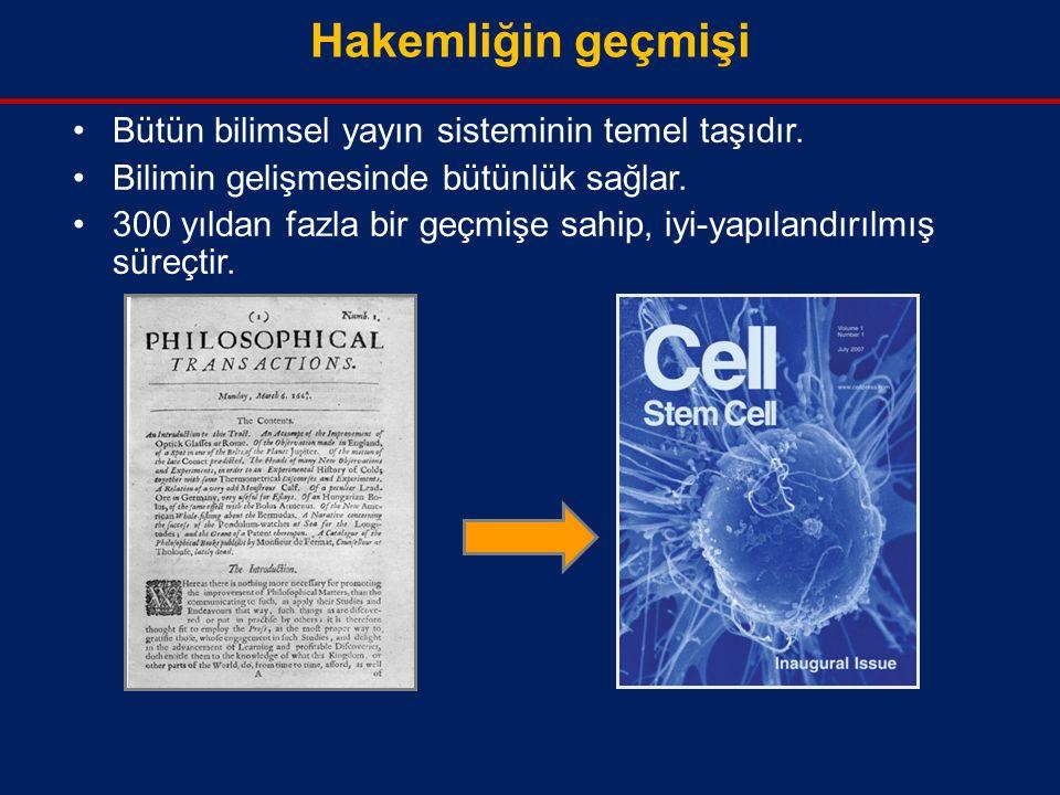 Hakemliğin geçmişi Bütün bilimsel yayın sisteminin temel taşıdır.