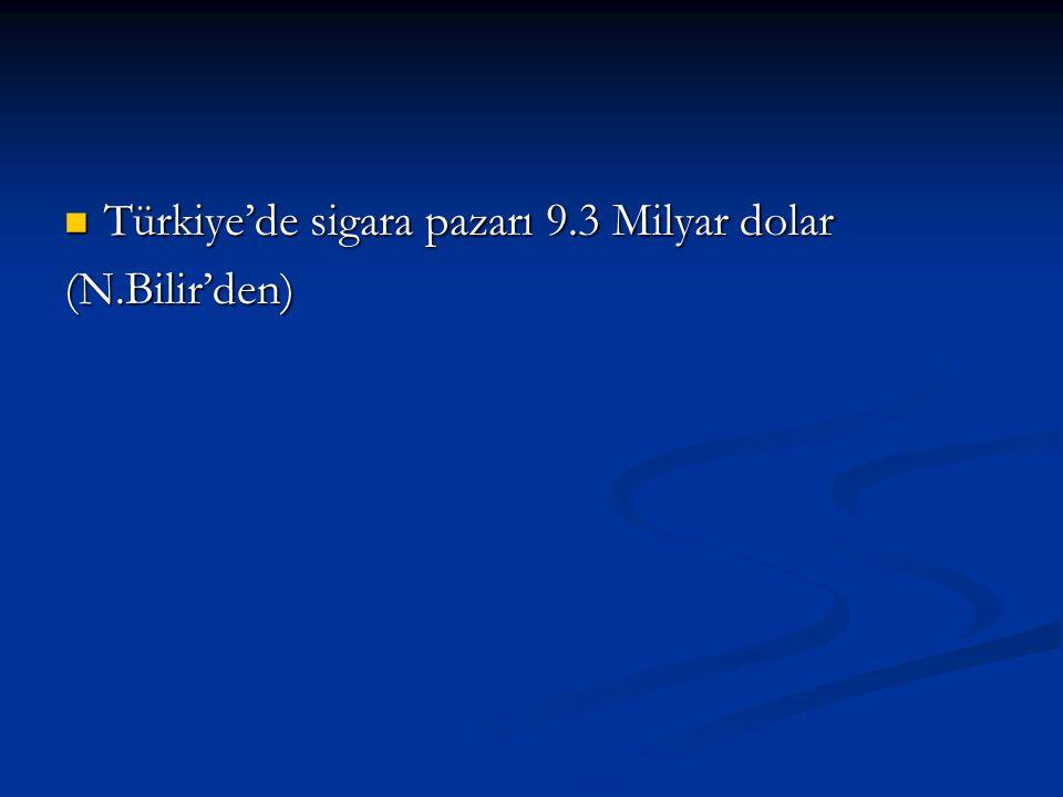 Türkiye'de sigara pazarı 9.3 Milyar dolar