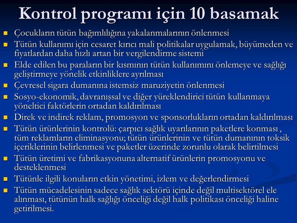 Kontrol programı için 10 basamak