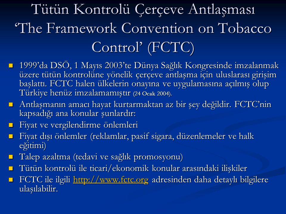 Tütün Kontrolü Çerçeve Antlaşması 'The Framework Convention on Tobacco Control' (FCTC)