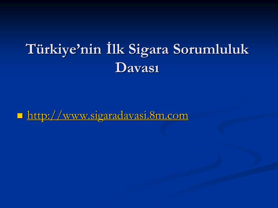 Türkiye'nin İlk Sigara Sorumluluk Davası