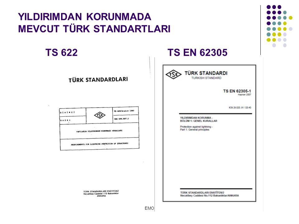 YILDIRIMDAN KORUNMADA MEVCUT TÜRK STANDARTLARI TS 622 TS EN 62305