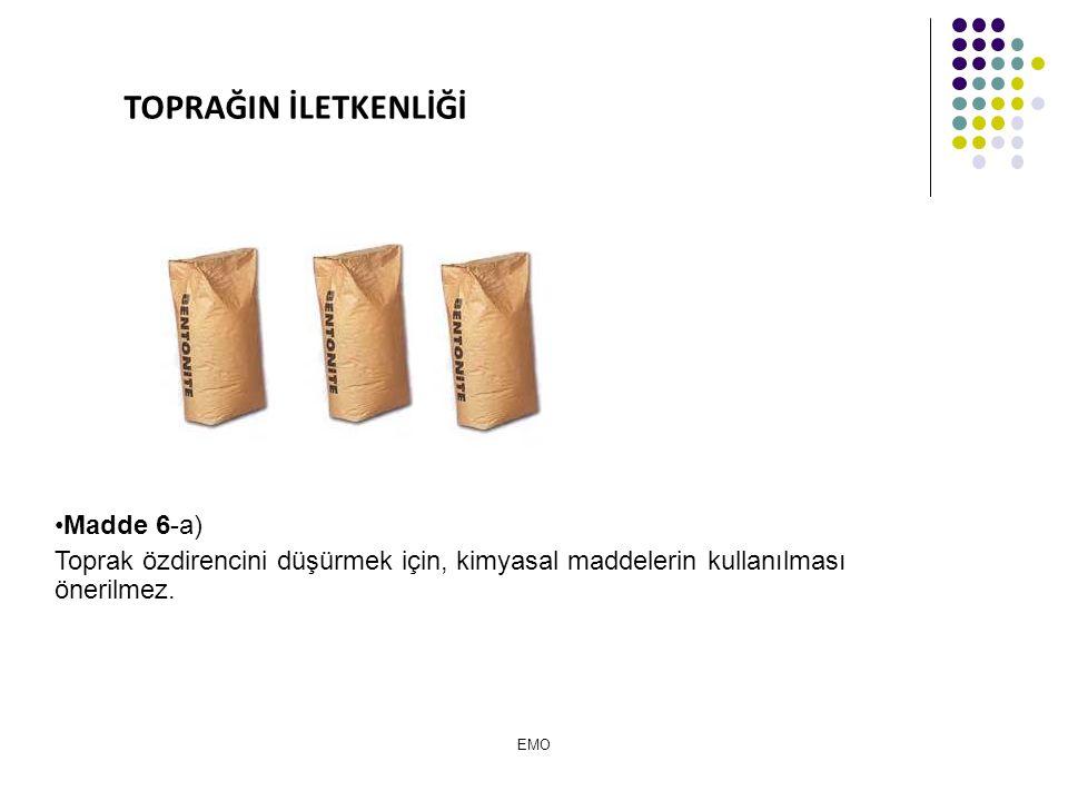 TOPRAĞIN İLETKENLİĞİ Madde 6-a)