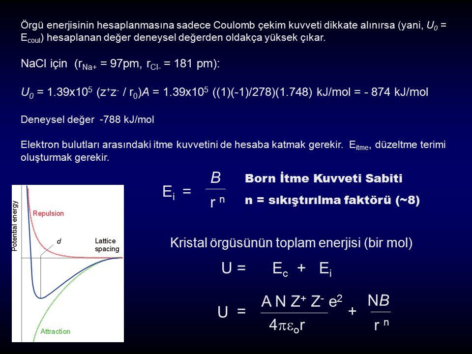 Ei = B r n U = Ec + Ei A N Z+ Z- e2 4or = + NB r n U
