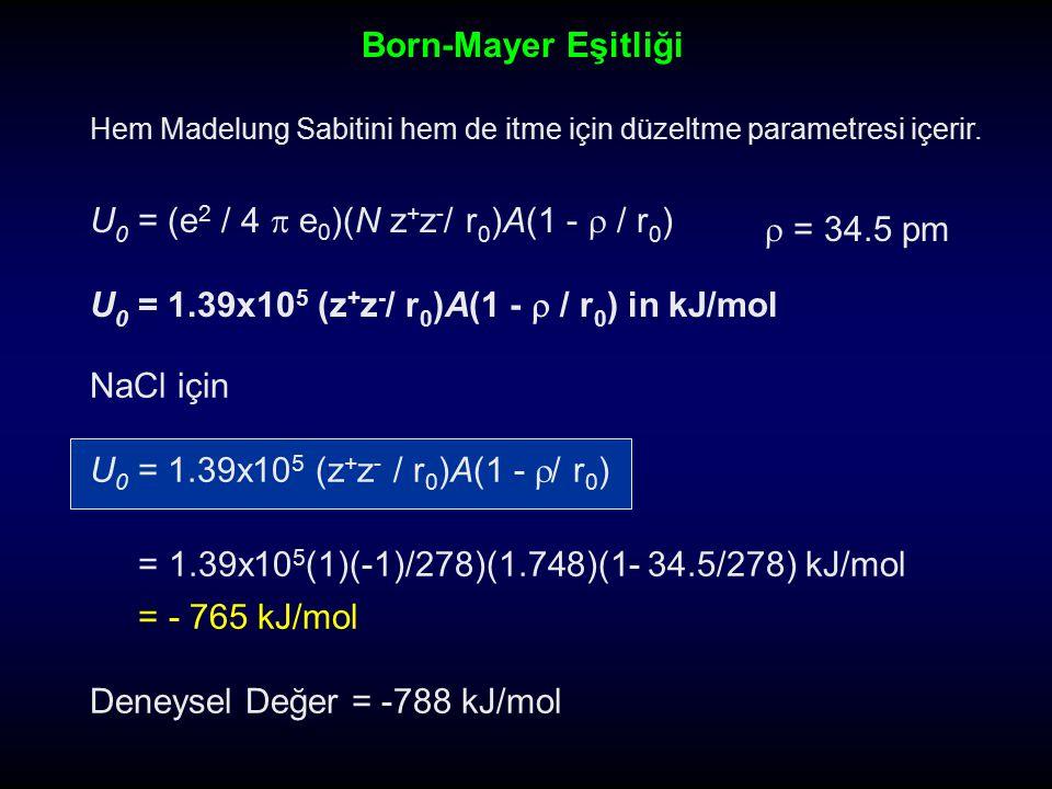 U0 = (e2 / 4  e0)(N z+z-/ r0)A(1 -  / r0)