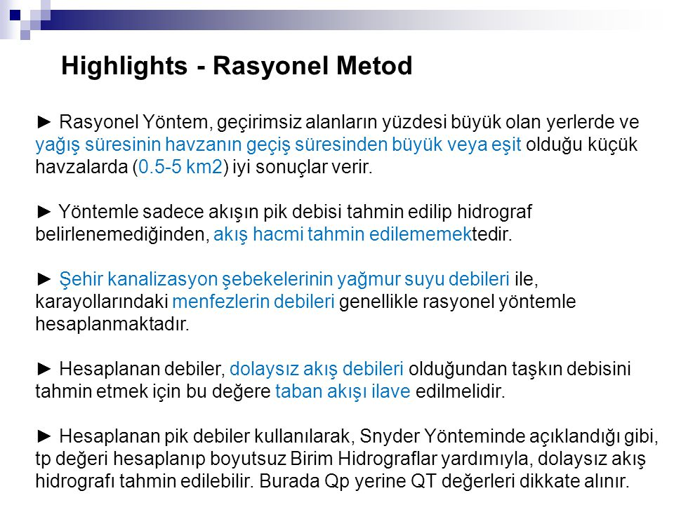 Highlights - Rasyonel Metod