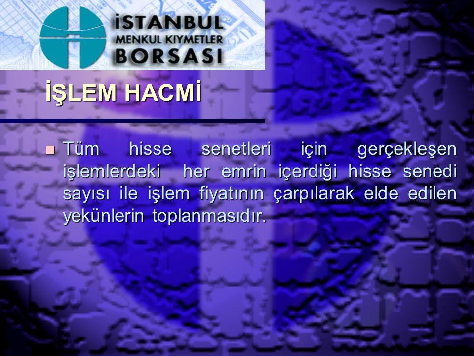 İŞLEM HACMİ