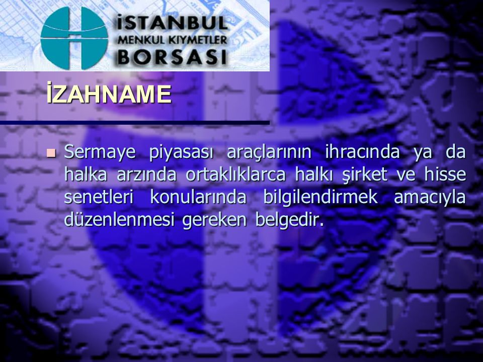 İZAHNAME