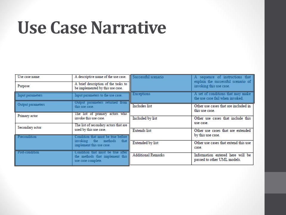 Use Case Narrative