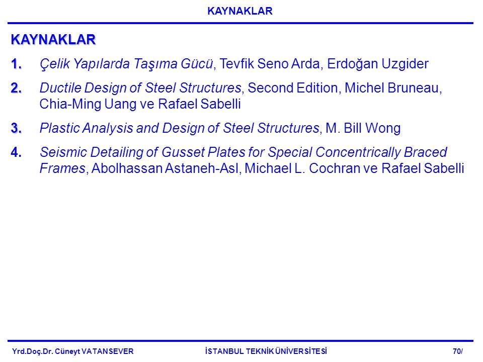 1. Çelik Yapılarda Taşıma Gücü, Tevfik Seno Arda, Erdoğan Uzgider